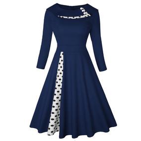 0471a80e317a Vestido Rojo Manga Larga - Vestidos de Mujer Casual Corto Azul ...