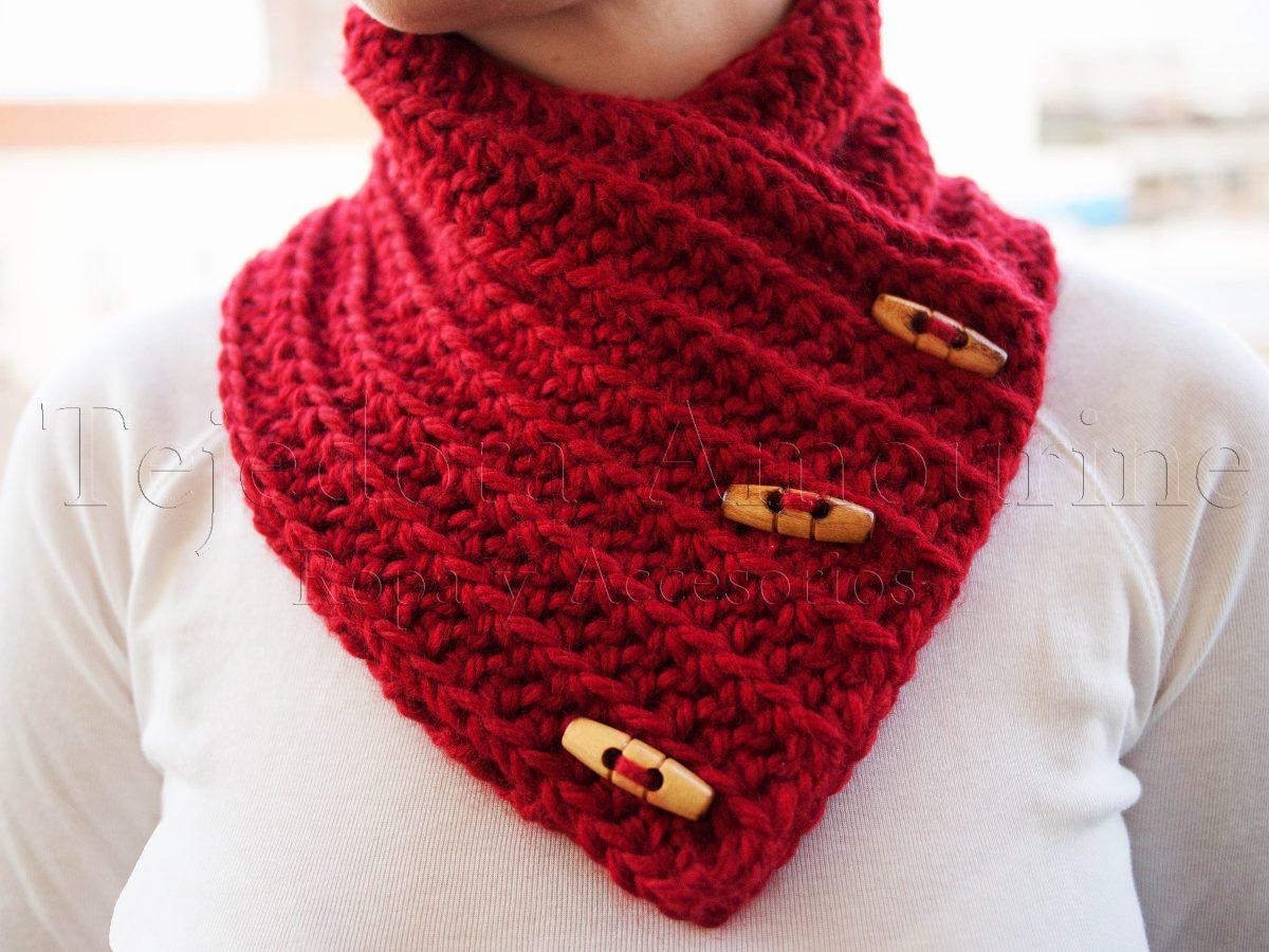 bastante agradable 1bd22 02f08 Cuello Bufanda De Lana Crochet Circular Mujer Hombre Europeo