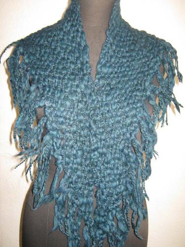 cuello lana rustica c/flecos