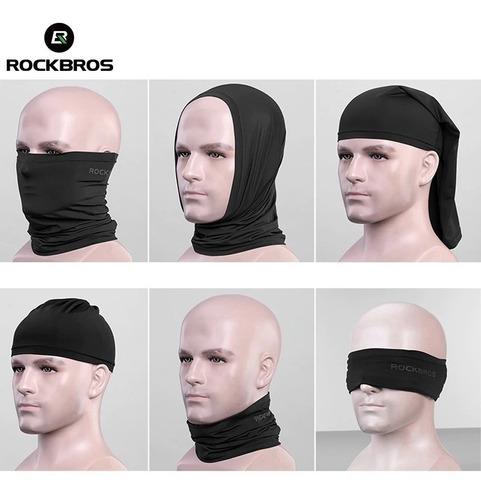 cuello, mascara, bandana elástica refrescante rockbros uv400