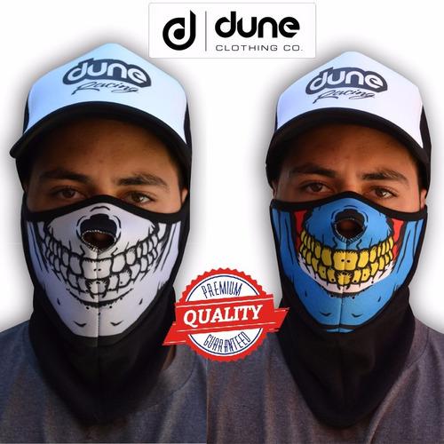 cuello mascara moto en neopren y polar con respiracion dune