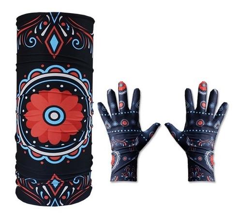 cuello multifuncion + guantes termicos primera piel - estacion deportes olivos