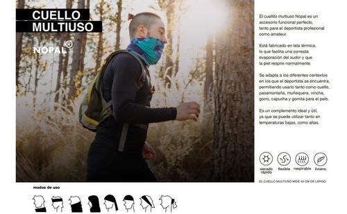 cuello multifuncion nopal + guantes primera piel diseños