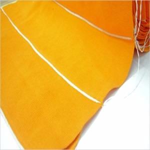 cuello para chombas color naranja venta por 30 unidades