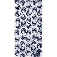 cuello tubo schampa multiuso calaveras blanco