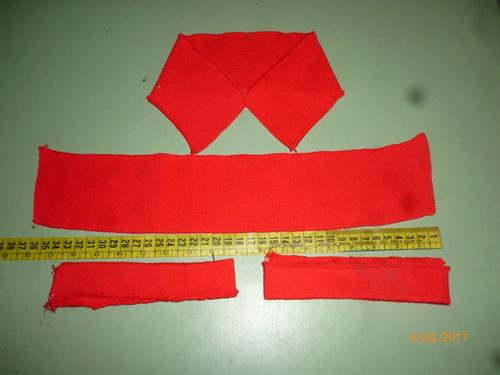 cuello y puño tejidos para chemise