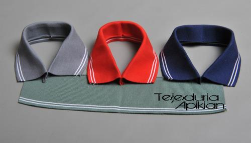 cuellos para chombas  puños  tiras y cinturas tejidas