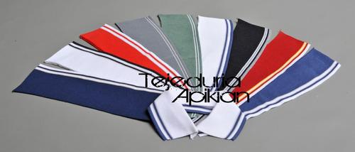 cuellos para chombas, puños, tiras y cinturas tejidas