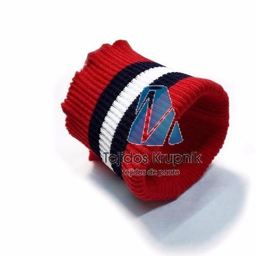 cuellos tejidos para chombas -cinturas y puños para camperas