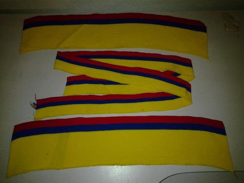 cuellos y puños de chemises tricolor 42 cmts.