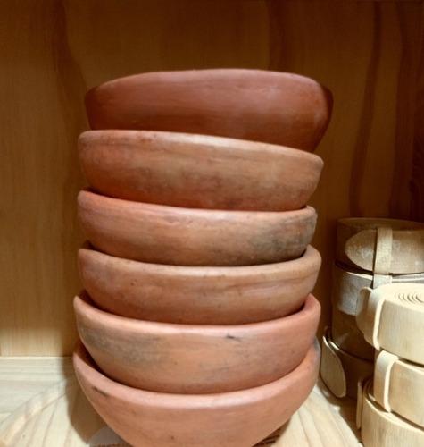 cuencos / cazuelas de barro curados p/microondas s/asas 16cm