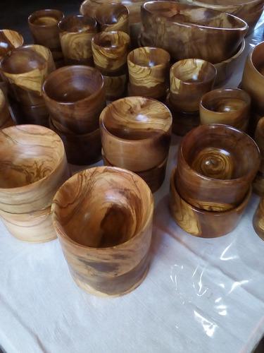 cuencos, cazuelas y ensaladeras madera de olivo