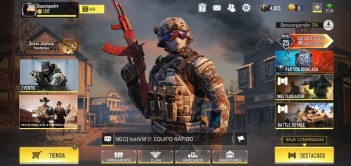 cuenta call of duty mobile