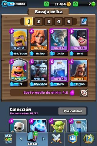 cuenta clash royale - arena 10