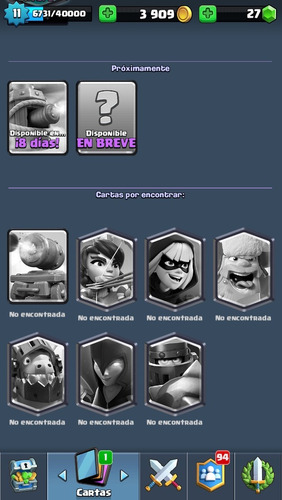 cuenta clash royale con 7 legendarias!!!!!