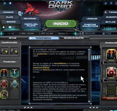 cuenta darkorbit