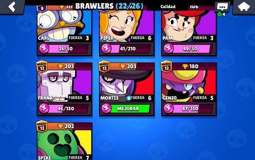 cuenta de brawl stars