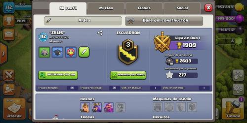 cuenta de clash of clans