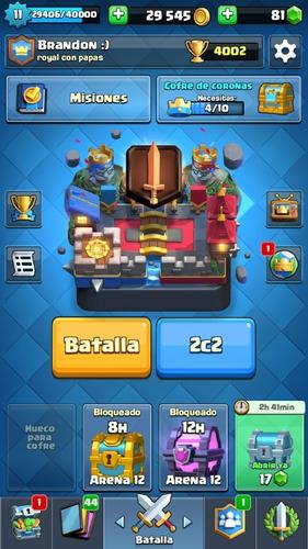 cuenta de clash royale -nivel 11-