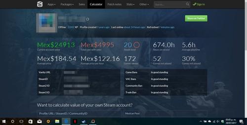 cuenta steam 155 juegos + 2 software (gta v, cod, dmc, etc)