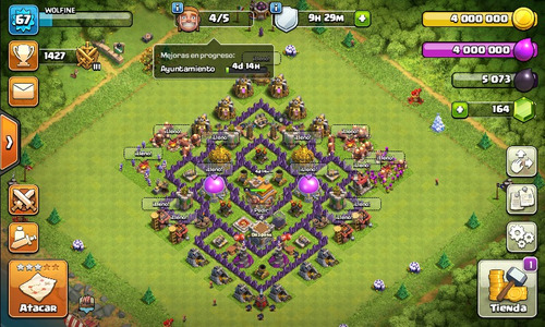 cuenta th7 full clash of clans