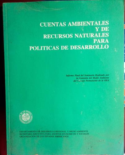 cuentas ambientales y de recursos naturales