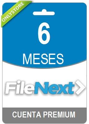 cuentas premium filenext 180 dias - oficial 100% original