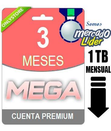 cuentas premium mega 90 dias 3 meses oficial 1000gb garantia