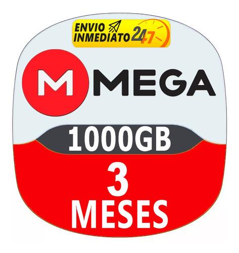 cuentas premium mega 90 dias 3 meses oficial 1000gb mensual