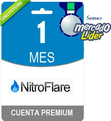 cuentas premium nitroflare 30 dias - oficial 100% original