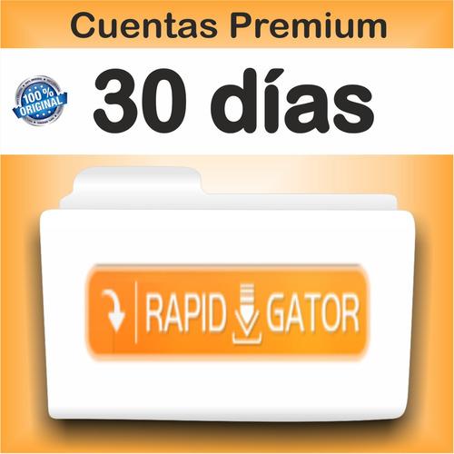 cuentas premium rapidgator x 30 dias - garantizadas!