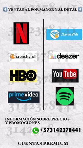 cuentas premium - streaming