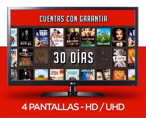 cuente neflix | 4 screens | full hd | one month