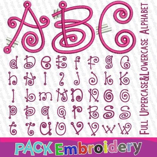 cuento de hadas fuentes letras abecedario abc bordadoras