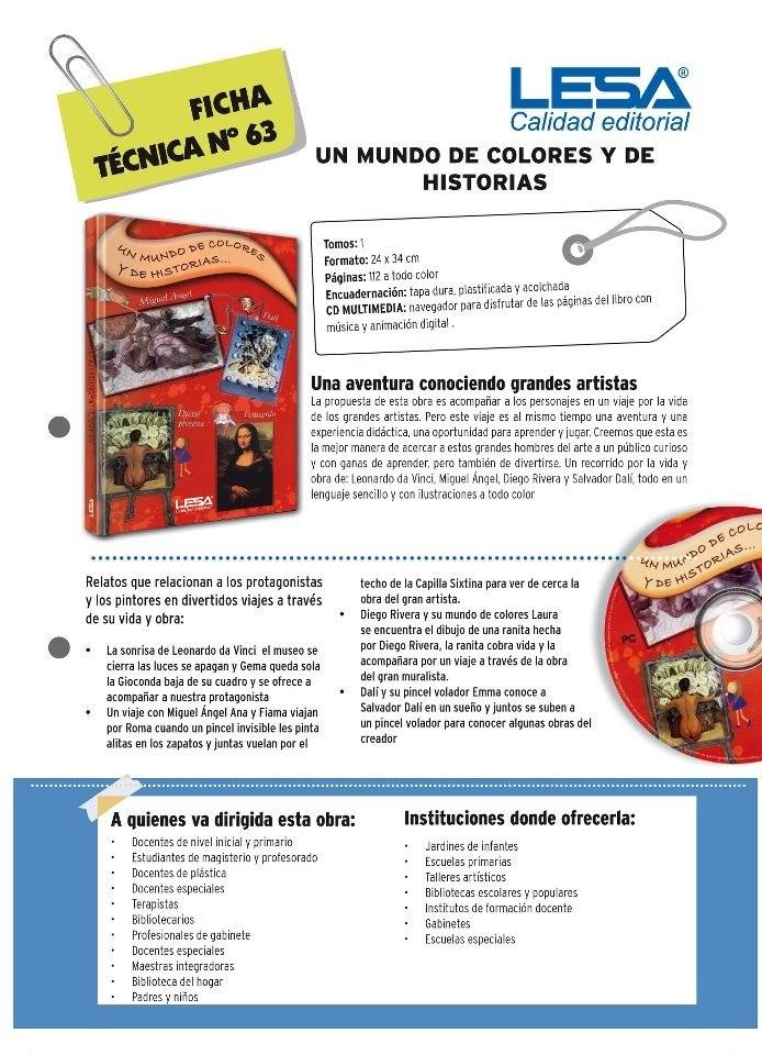 Cuento Un Mundo De Colores Y De Historias Inf.libro De Arte - $ 950 ...