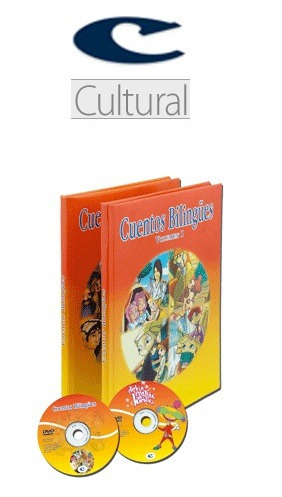 cuentos bilingües 2 vol + 2 dvd cultural