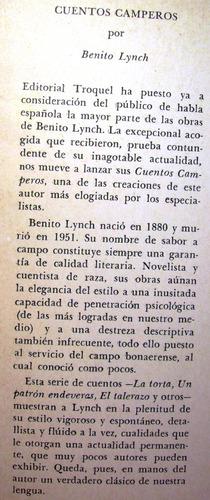 cuentos camperos benito lynch editorial troquel buenos aires