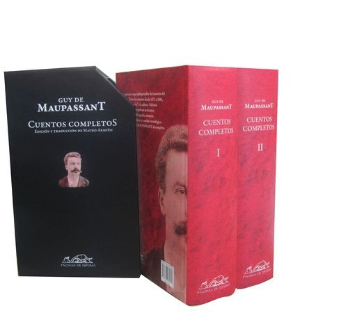 cuentos completos 2 volumenes  de maupassant guy de