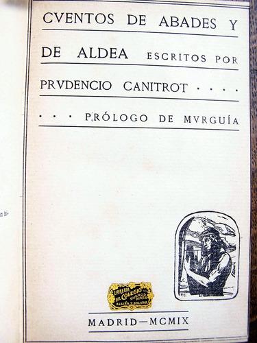 cuentos de abades y de aldea, prudencio canitrot