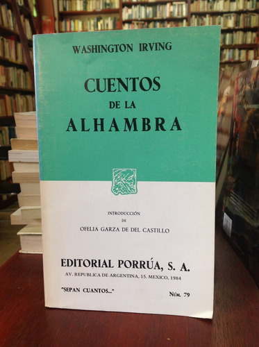 cuentos de alhambra por washington irving