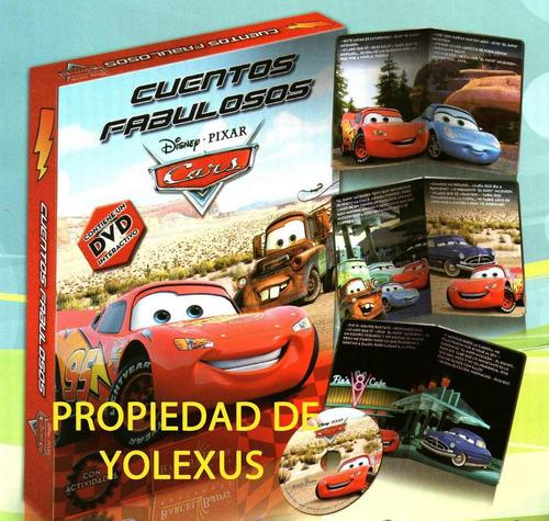 cuentos de cars (colección de 8 cuentos con cd rom)