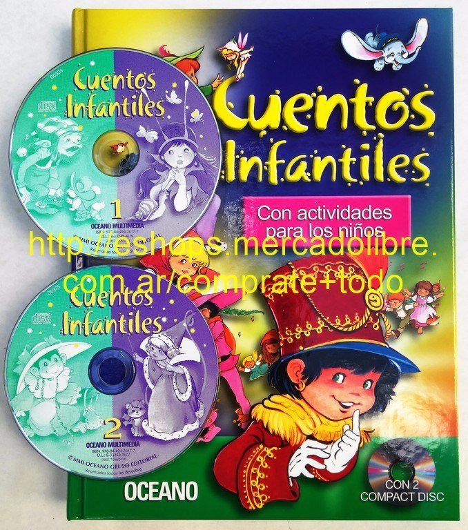 70d2193018 Cuentos Infantiles 1 Tomo 2 Cd Para Escuchar - Oceano -   1.150