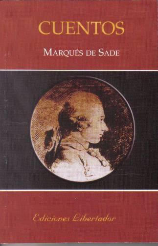 cuentos - marqués de sade - nuevo
