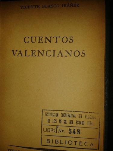cuentos valencianos v blasco ibañez