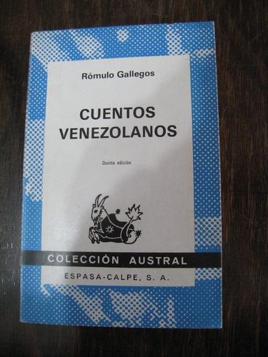 cuentos venezolanos. rómulo gallegos