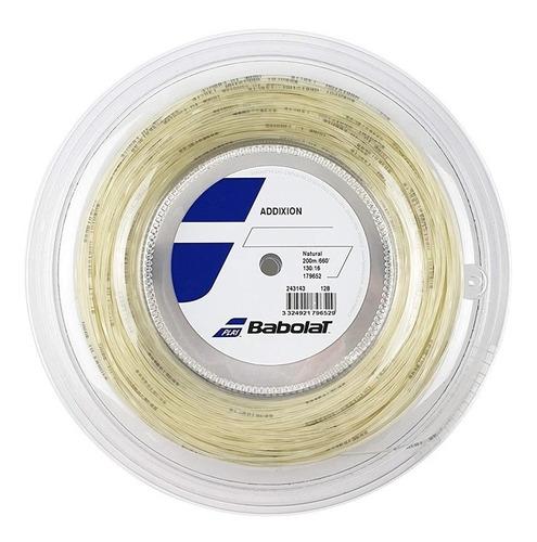 cuerda babolat addixion 200m  natural 1.25