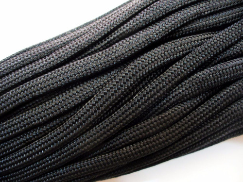 cuerda d paracaidas paracord 30 mts 100 pies 550 lb black