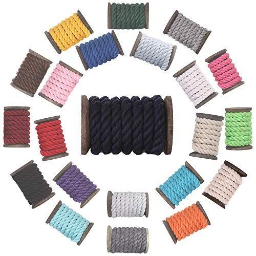cuerda de algodón retorcido natural por fms ravenox | ( azu