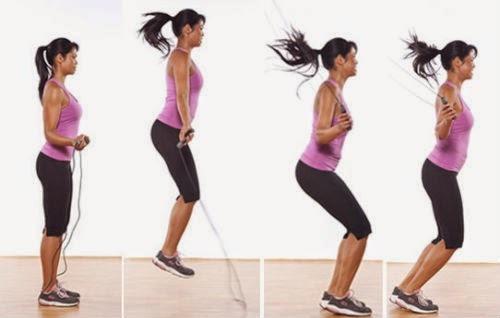 cuerda de saltar deportiva para entrenamiento