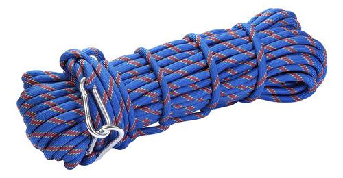 cuerda de seguridad al aire libre con mosquetón de 10 mm de